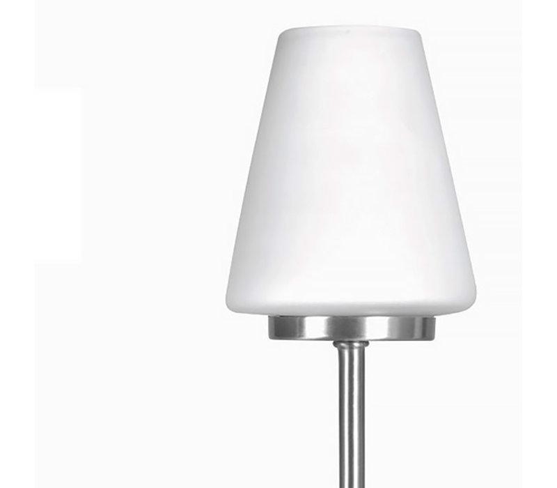 Tafellamp Oscar touch H 27 cm Ø 10 cm mat chroom