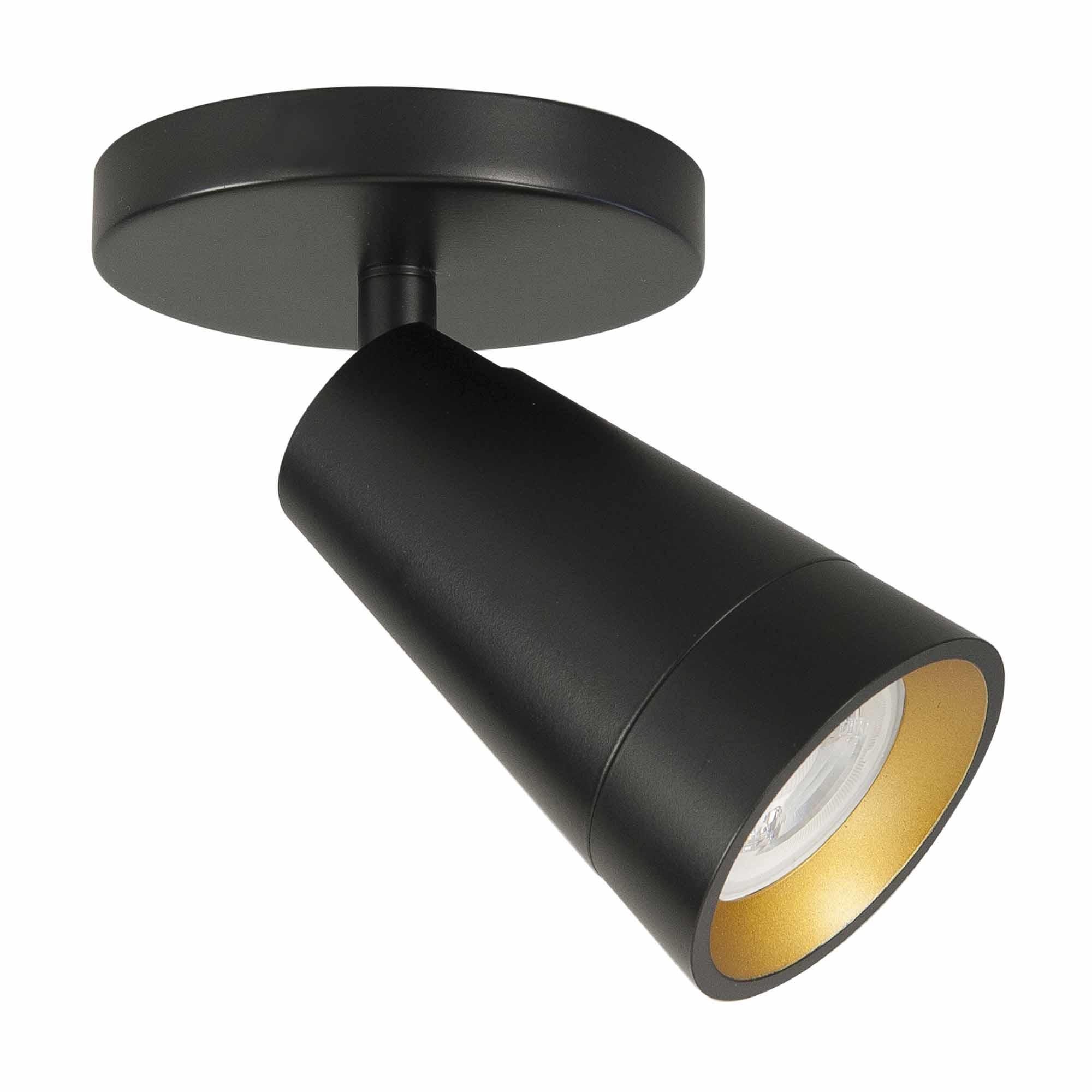 Highlight Spot Petunia 1 lichts zwart goud