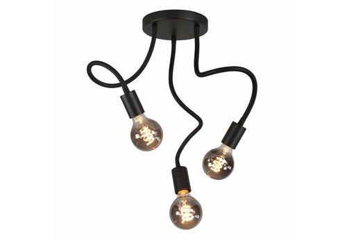 Highlight Plafondlamp Flex  3 lichts 50 cm E27 zwart