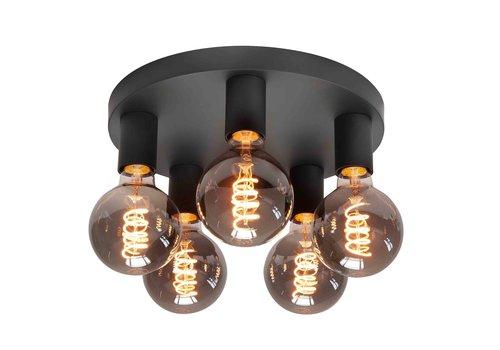 Highlight Plafondlamp Basic  5 lichts Ø 30 cm E27 zwart