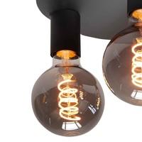 Plafondlamp Basic  3 lichts Ø 25 cm E27 zwart