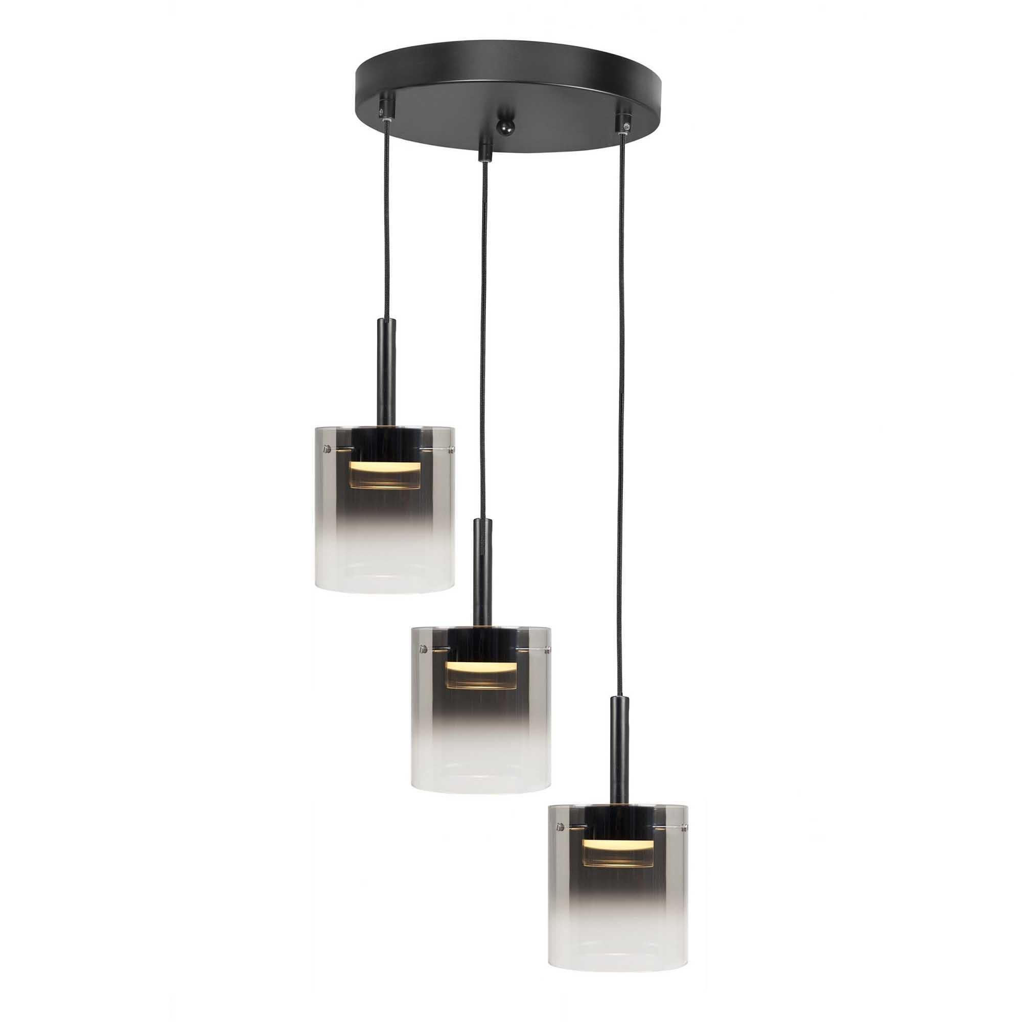 Highlight Hanglamp Salerno 3 lichts Ø 38 cm zwart