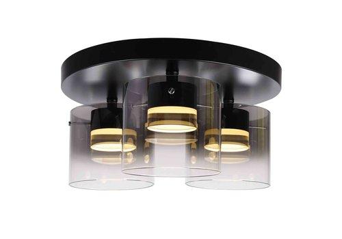 Highlight Plafondlamp Salerno 3 lichts Ø 40 cm zwart