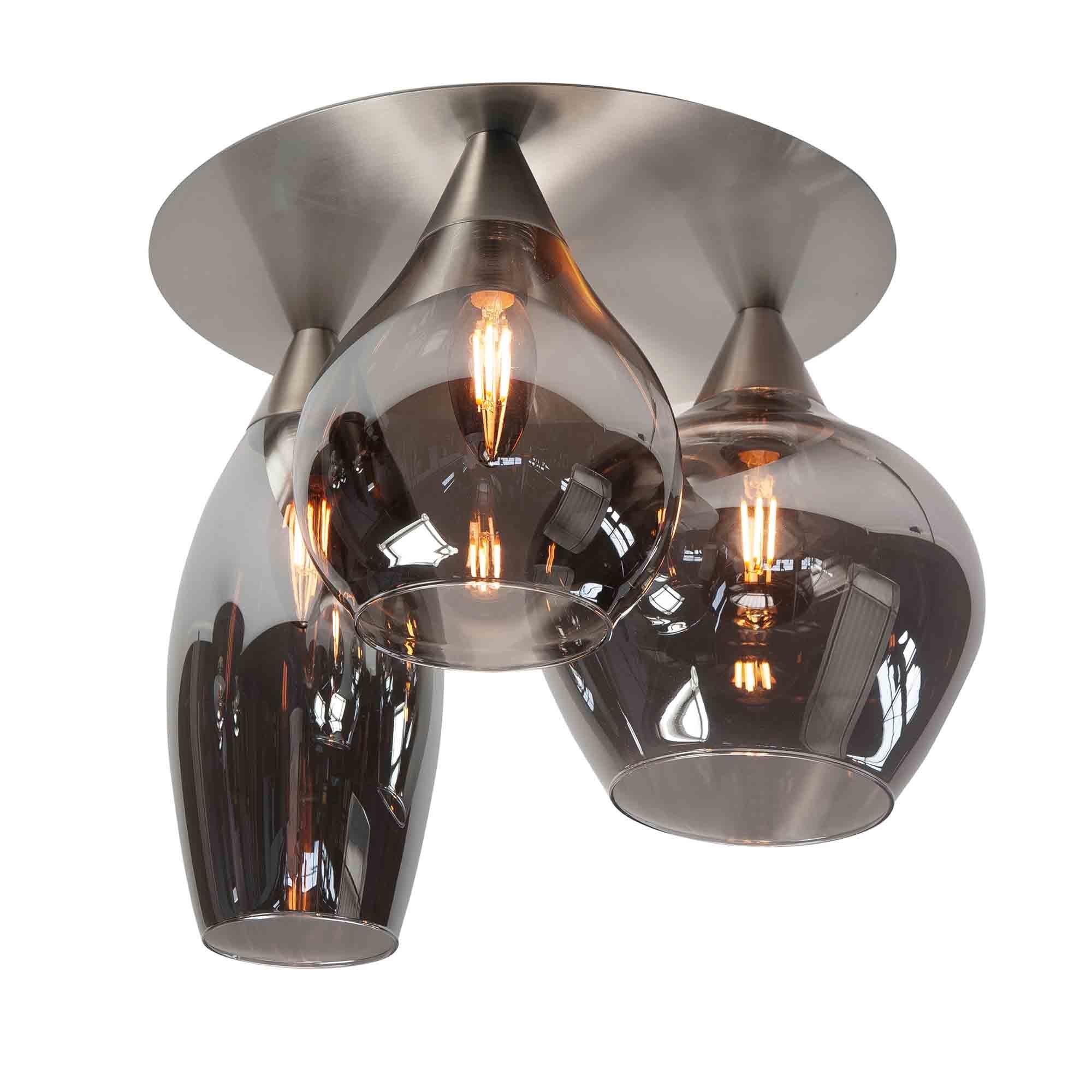 Highlight Plafondlamp Cambio 3 lichts Ø 32 cm mat chroom