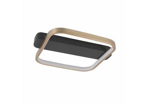 Highlight Plafondlamp Ascona L 36 B 30 cm mat goud-zwart