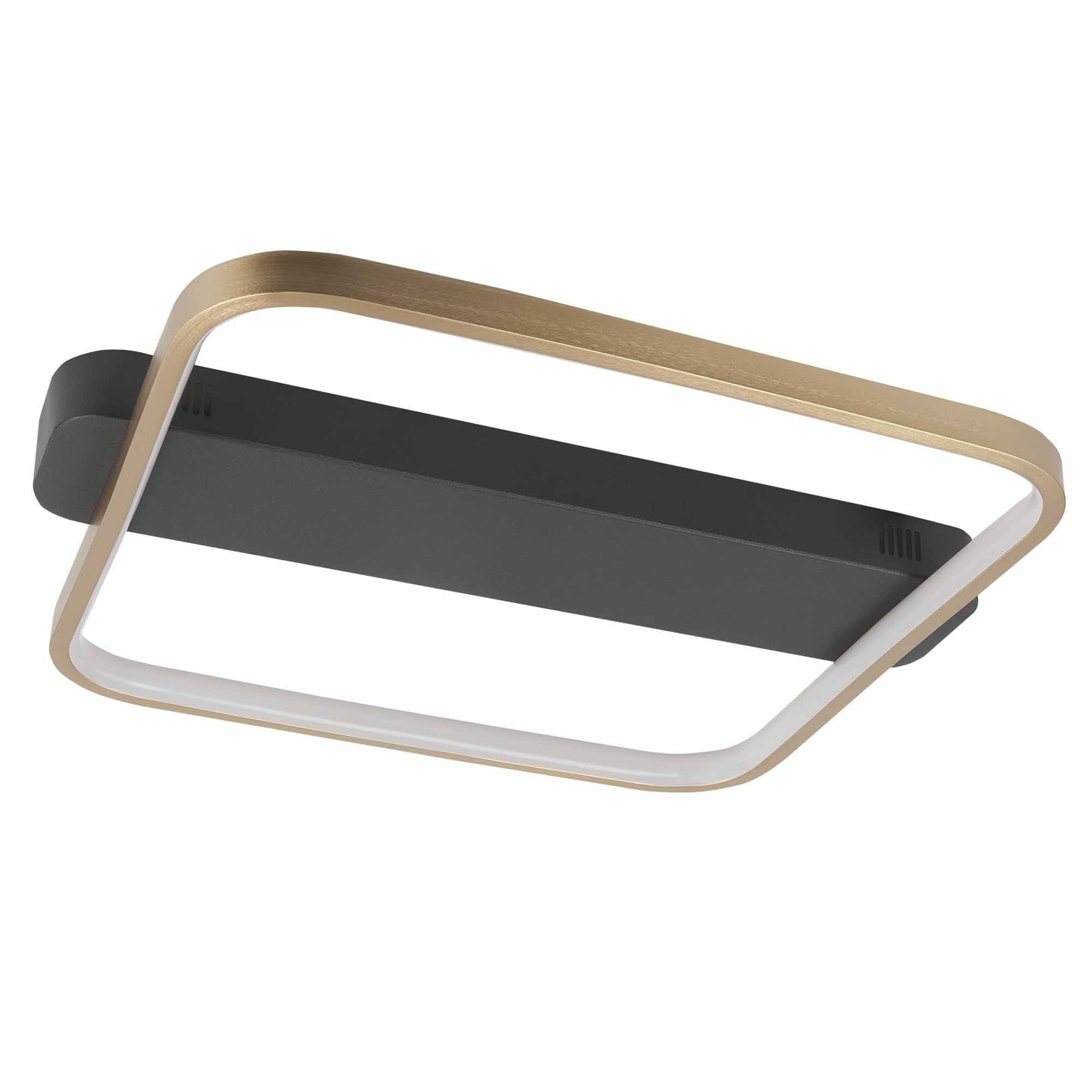 Highlight Plafondlamp Ascona L 46 B 40 cm mat goud-zwart