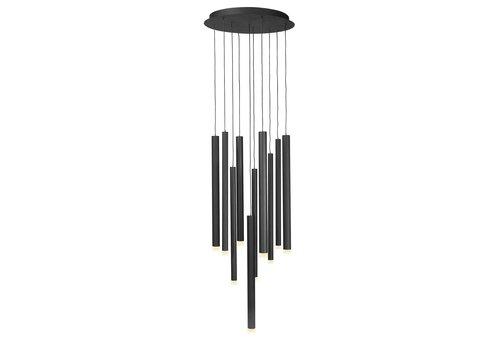 Highlight Hanglamp Tubes 10 lichts Ø 40 cm zwart