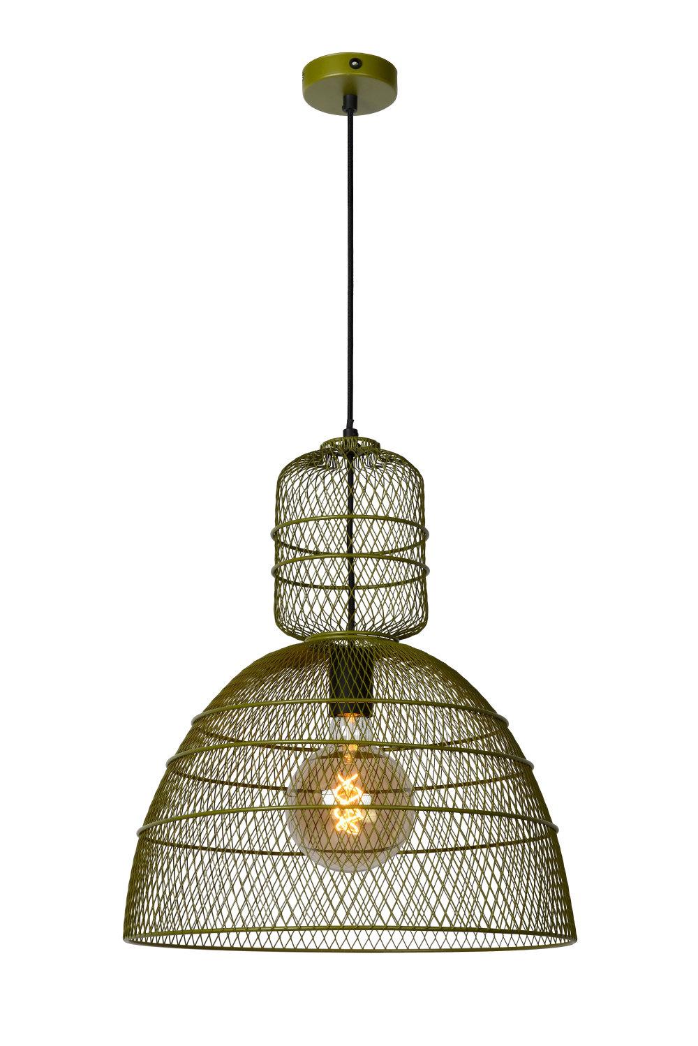 Lucide GASSET Hanglamp-Groen-Ø42,5-1xE27-60W-Metaal