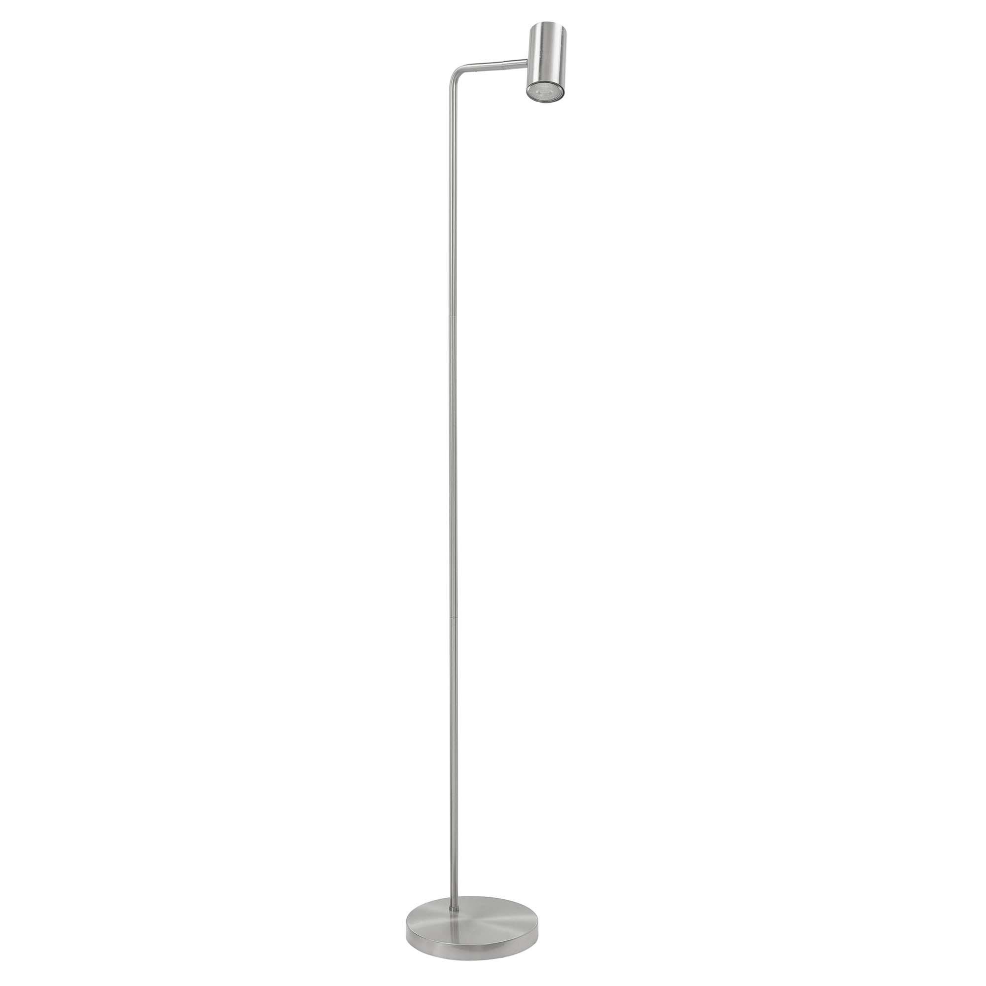 Highlight Vloerlamp Burgos 1 lichts H 134 cm mat chroom