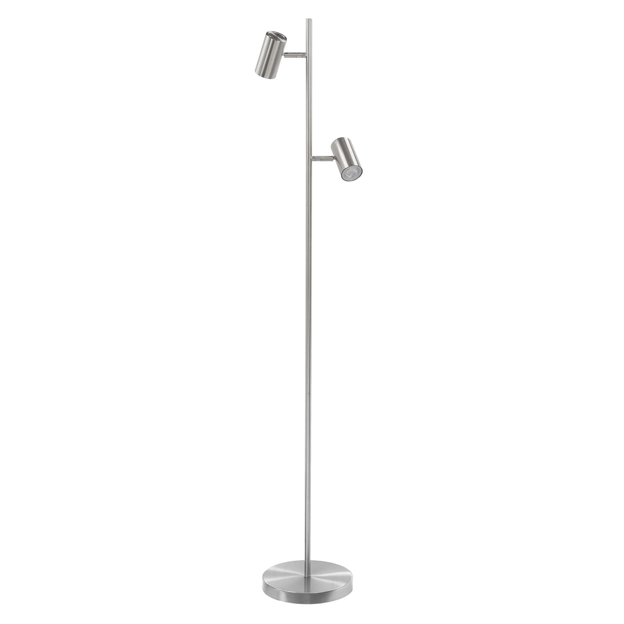 Highlight Vloerlamp Burgos 2 lichts H 142 cm mat chroom