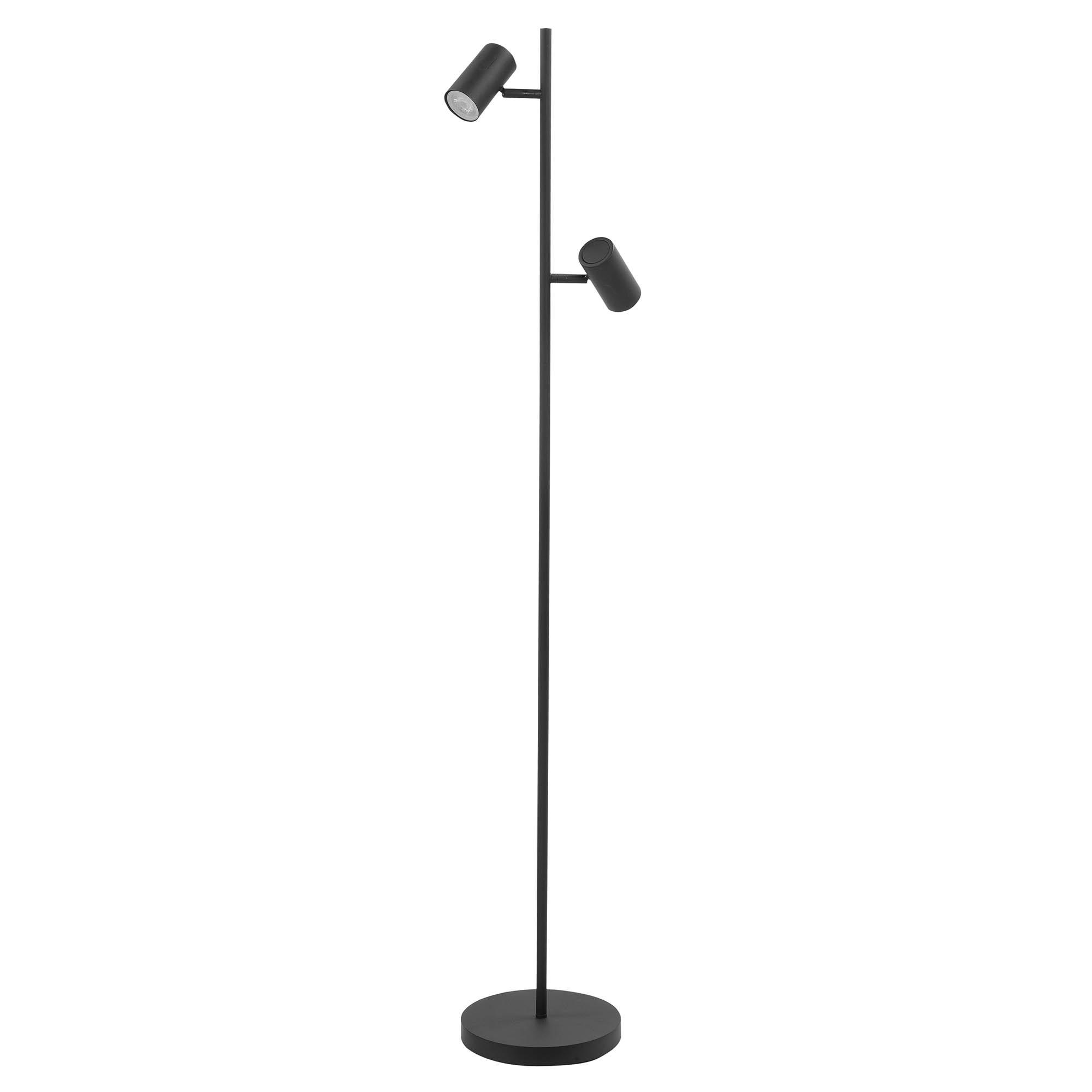 Highlight Vloerlamp Burgos 2 lichts H 142 cm zwart
