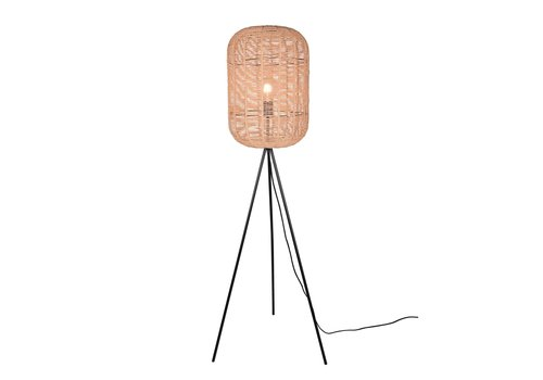 Trio Leuchten Vloerlamp Runa touw H 150 cm  Ø 35 cm beige zwart