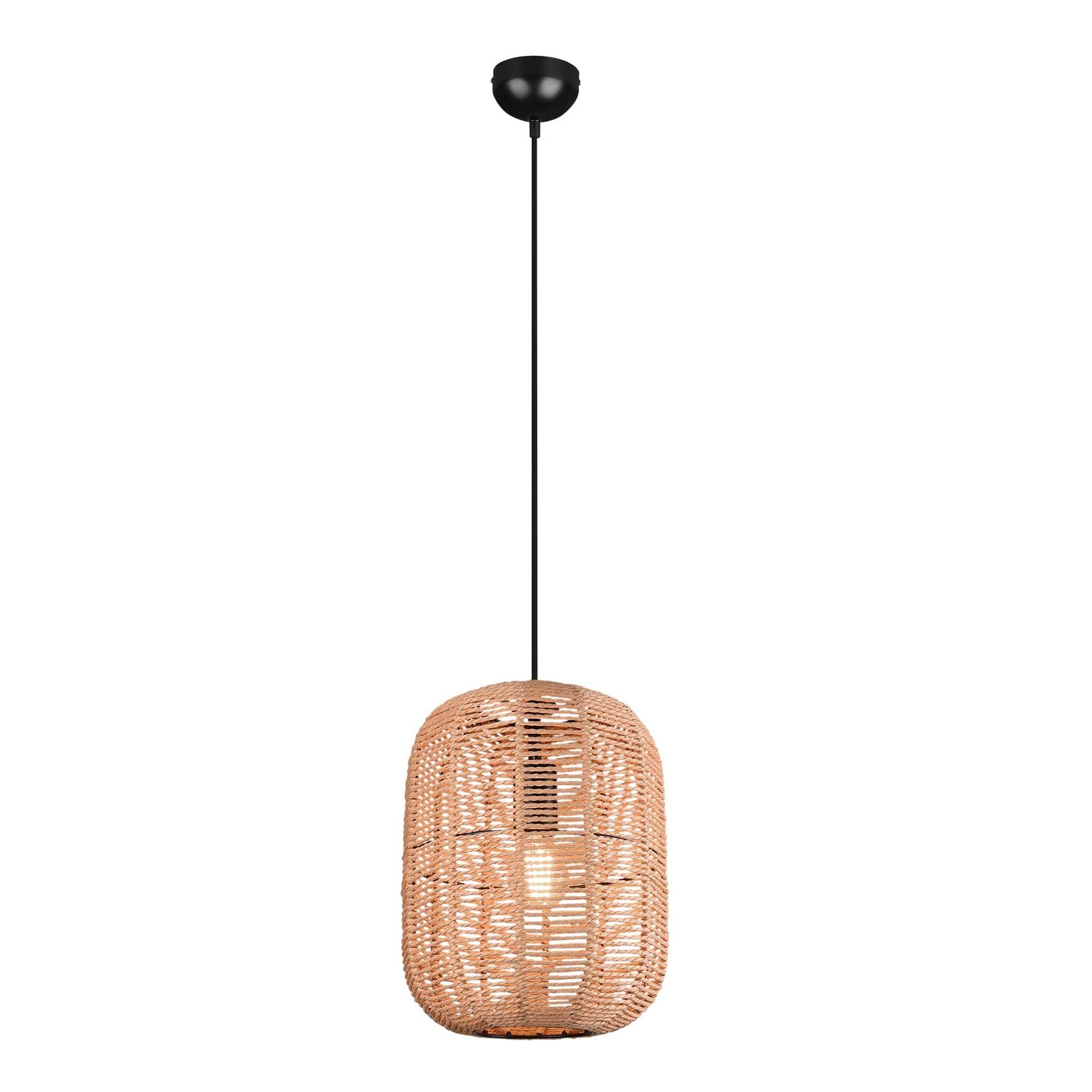 Trio Leuchten Hanglamp Runa touw 1 lichts Ø 35 cm beige zwart