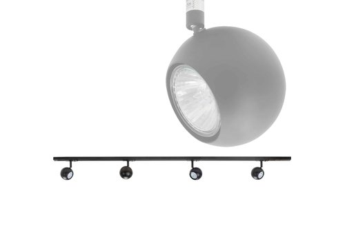 Highlight Railsysteem Trackline 150 cm + 4 retrobol spots zwart