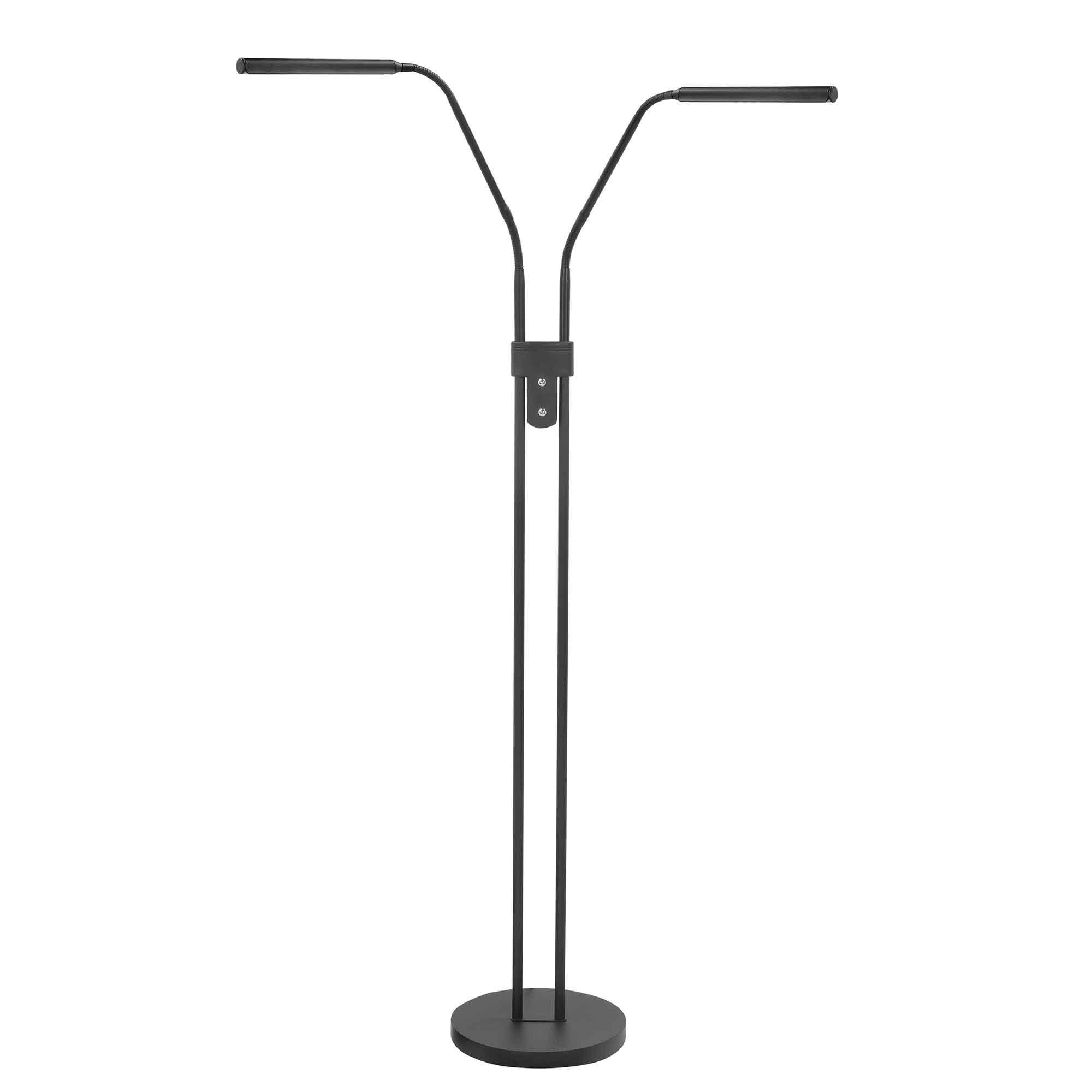 Highlight Vloerlamp Murcia 2 lichts H 145 cm zwart