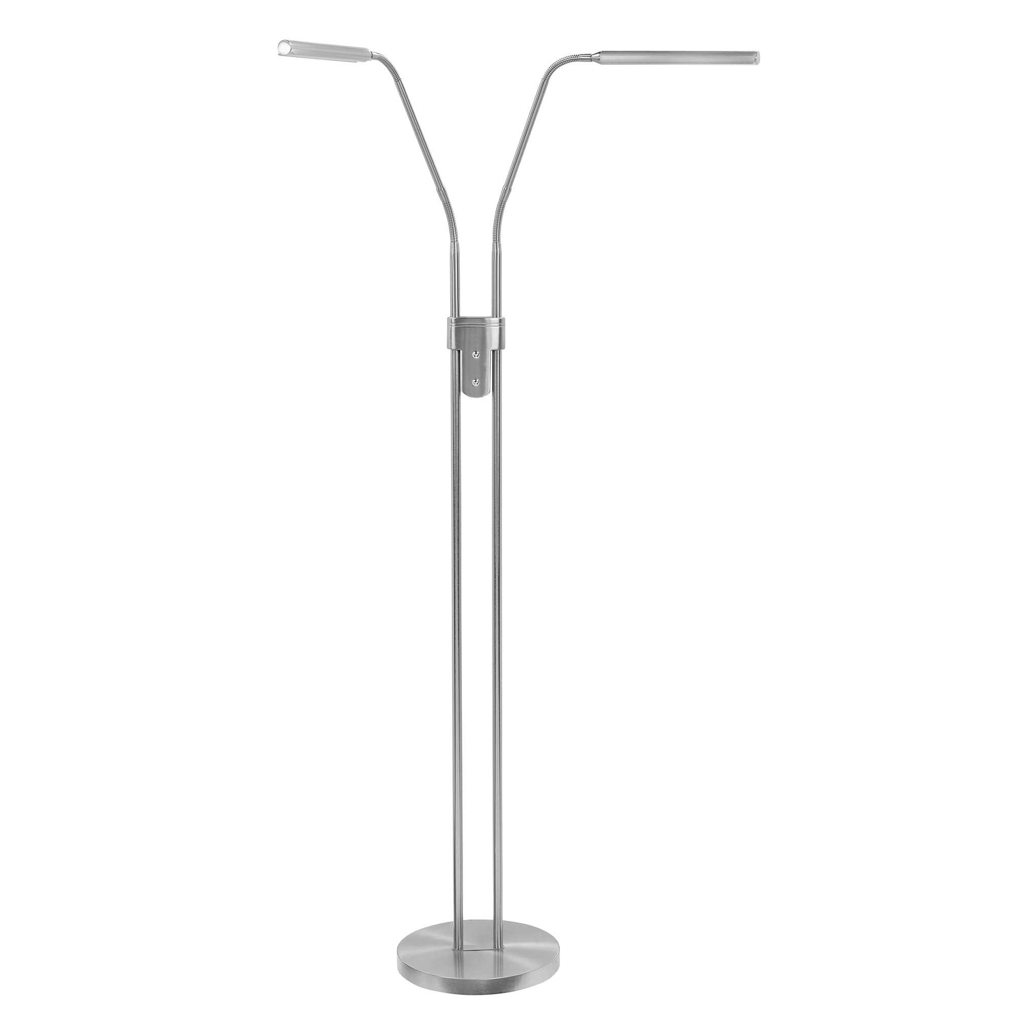 Highlight Vloerlamp Murcia 2 lichts H 145 cm mat chroom