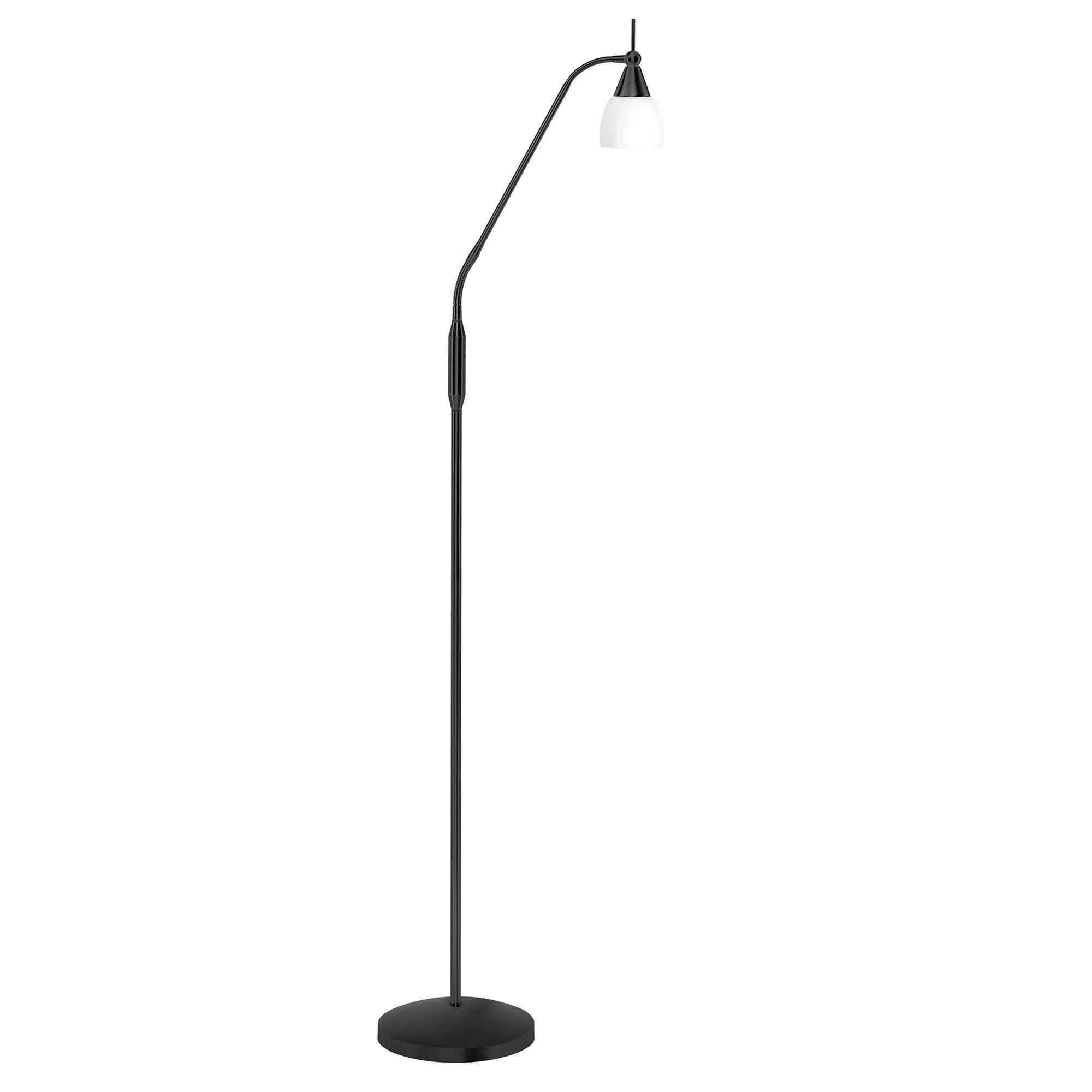 Highlight Vloerlamp Touchy glas H 145 cm zwart