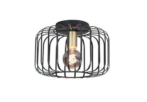 Highlight Plafondlamp Lucca Ø 30 cm zwart