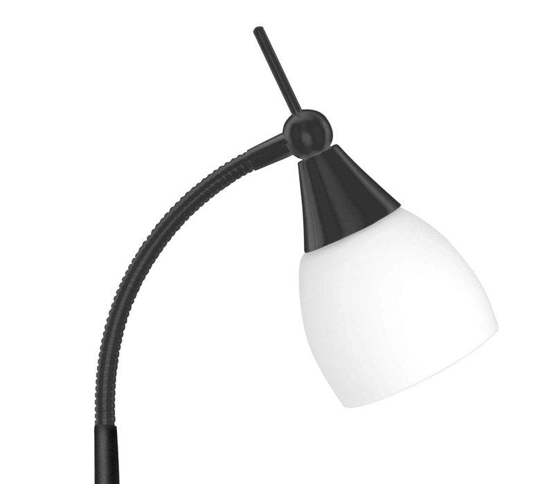 Tafellamp Touchy glas H 30 cm zwart