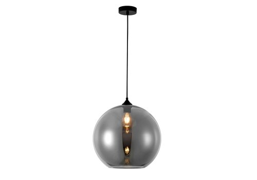 Artdelight Hanglamp Marino Ø 40 cm rook glas zwart