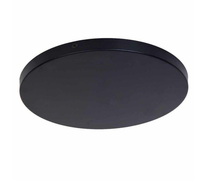 Plafondplaat Ø  45 cm zonder gaten zwart