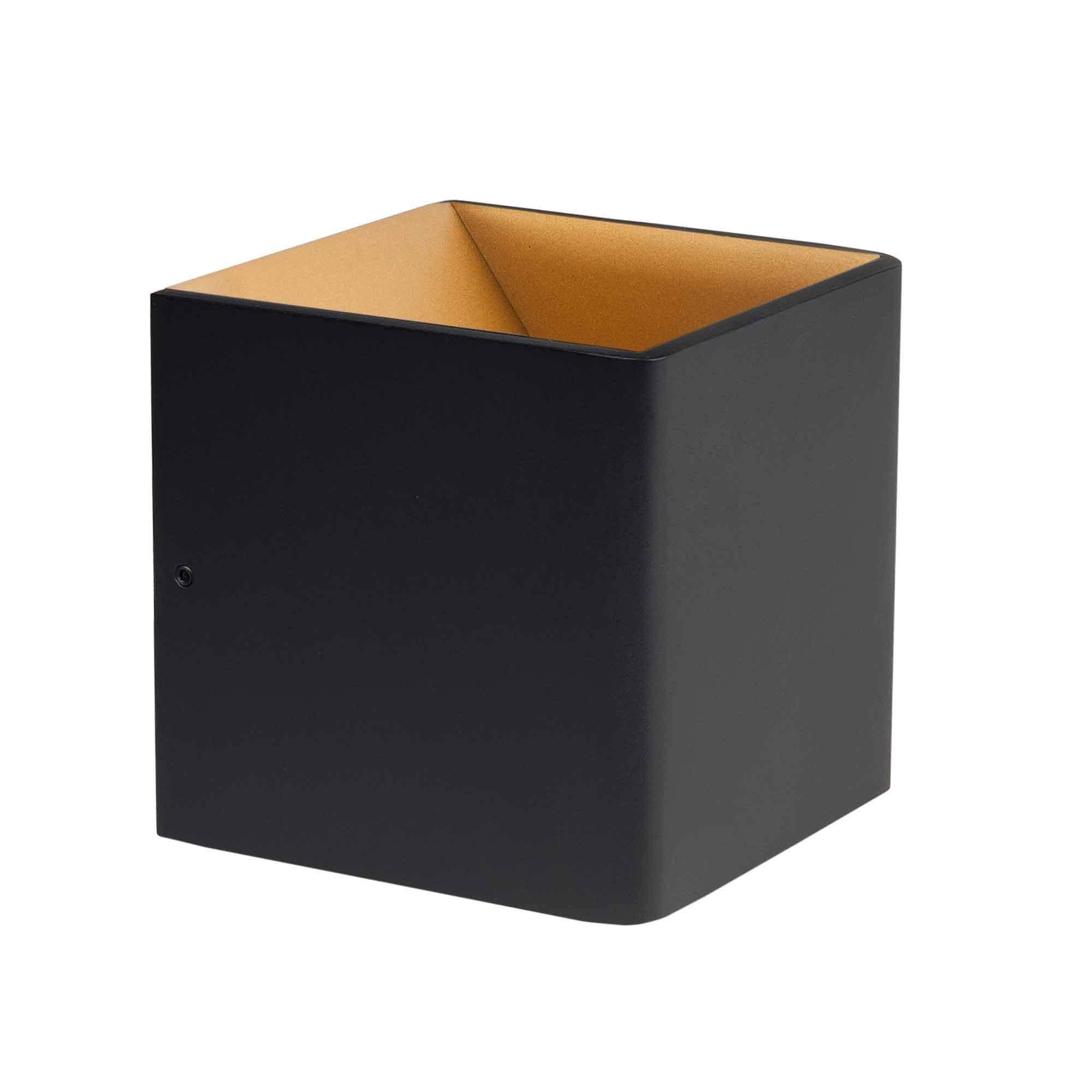 Highlight Wandlamp Stretto 6 Watt 10x10 cm zwart goud