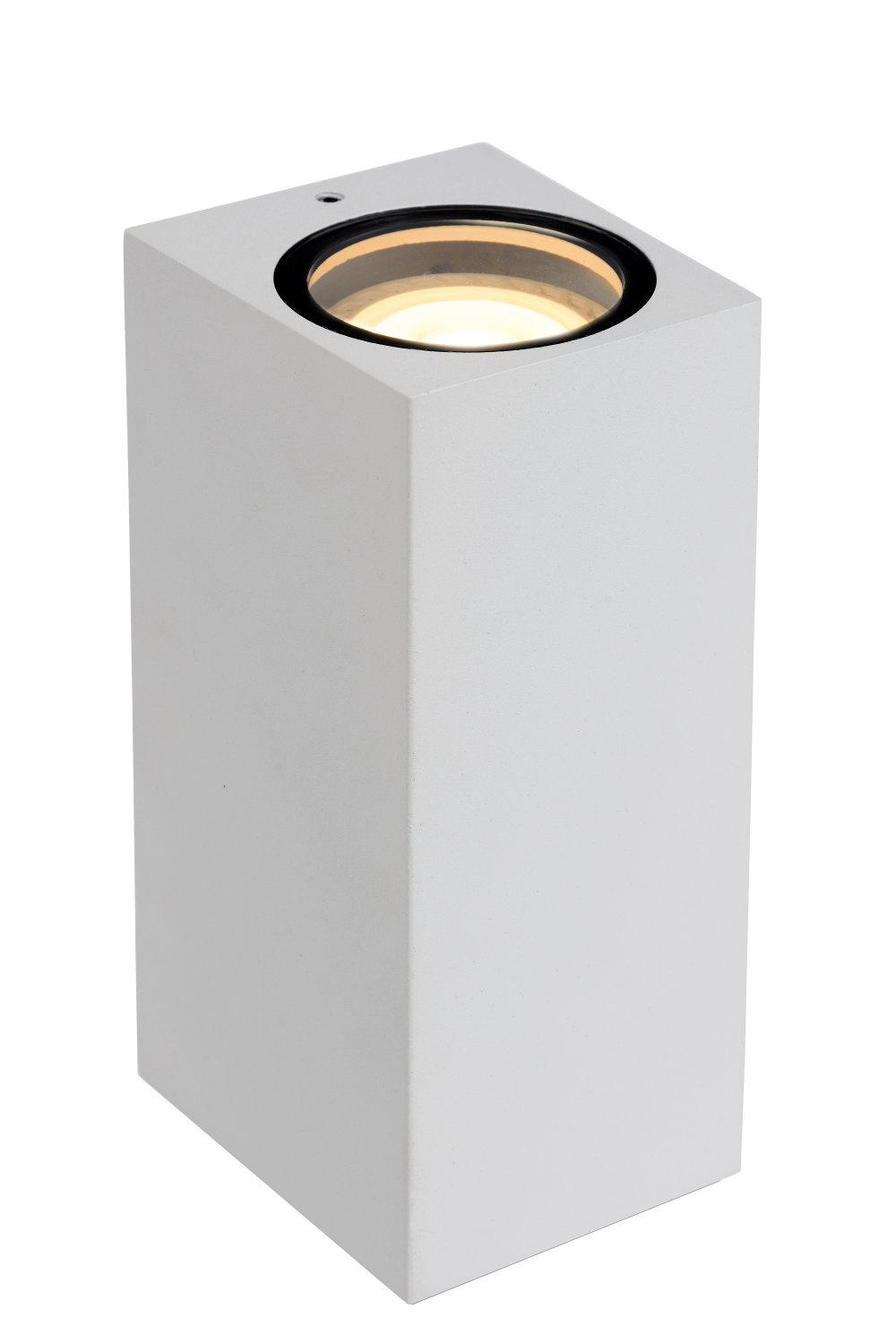Lucide ZARO Wandspot Buiten-Wit-2xGU10-35W-IP44-Alumin.