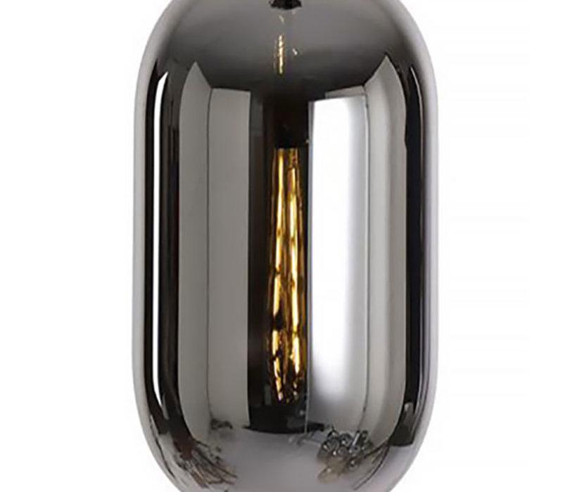 Hanglamp Fantasy Moderno 8 lichts L 130 x  B 35 cm rook zwart