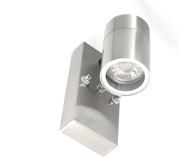 Buitenlamp Sense incl. LED 1 lichts dag nacht sensor Mat chroom