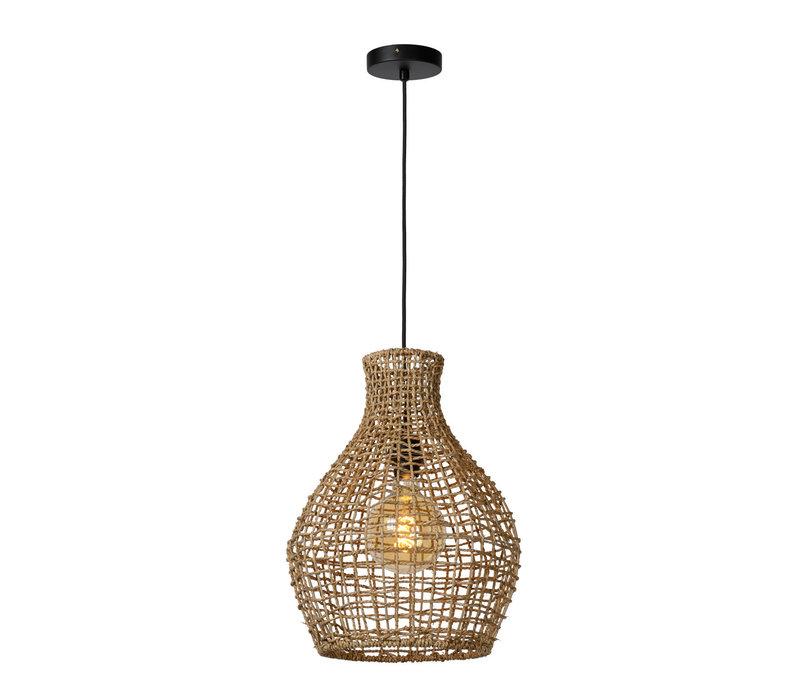 ALBAN Hanglamp E27/40W Rotan Licht Hout