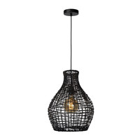 ALBAN Hanglamp E27/40W Rotan Zwart