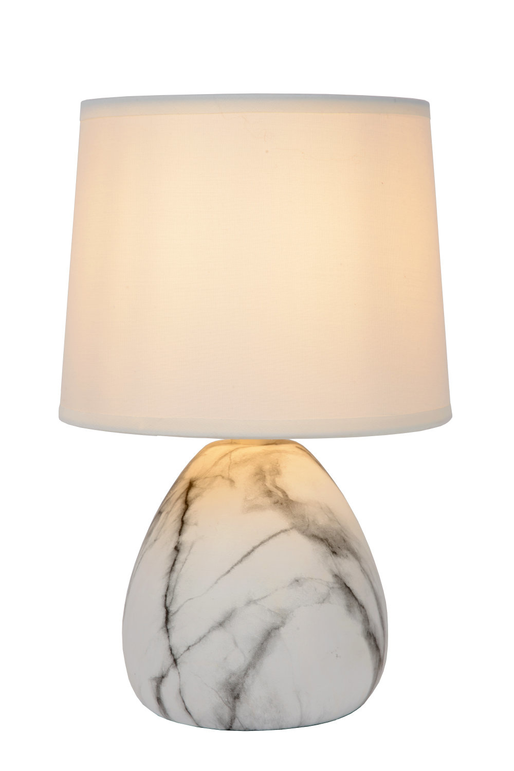 Lucide MARMO Tafellamp E14/4W Wit