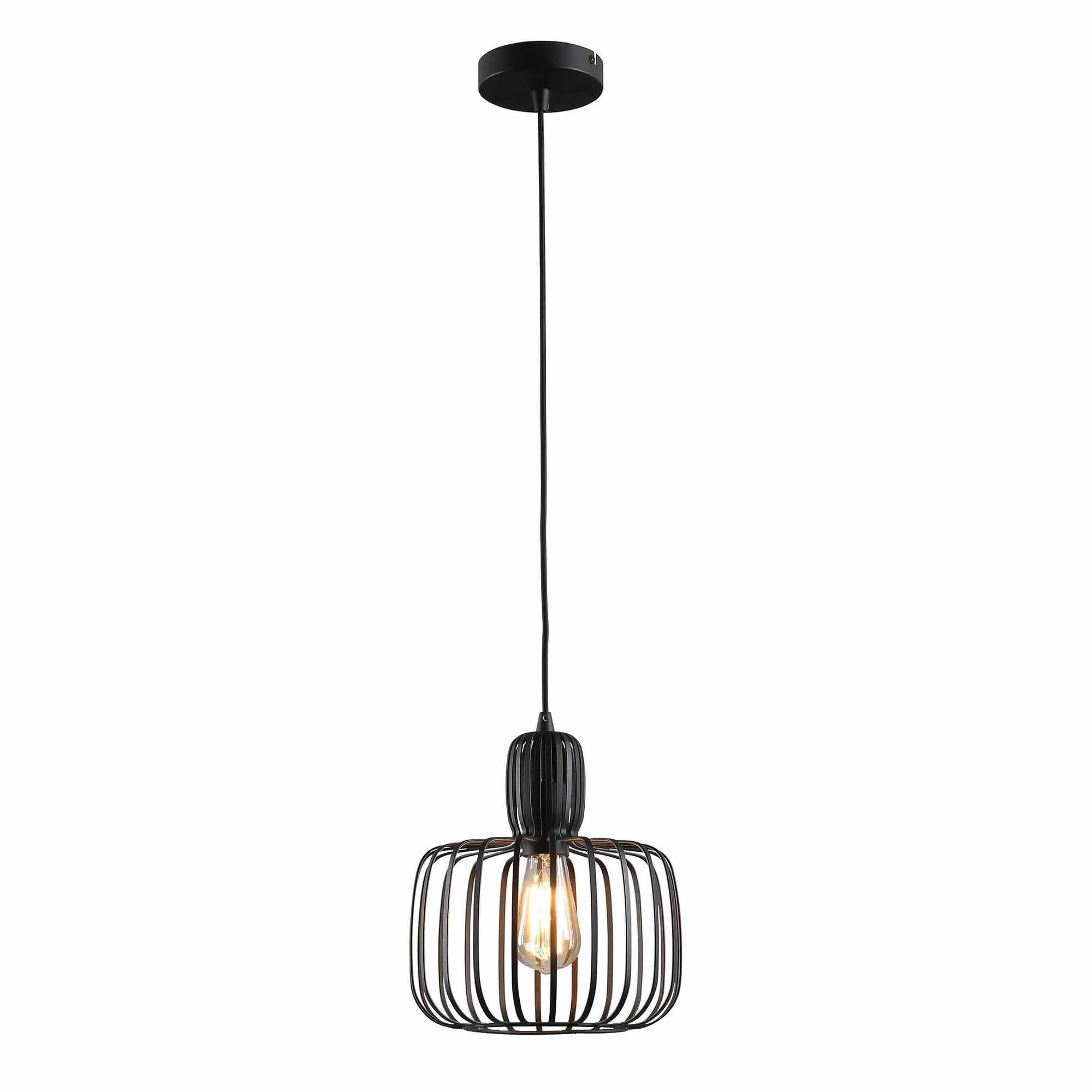 Freelight Hanglamp Costola Ø 25 cm zwart