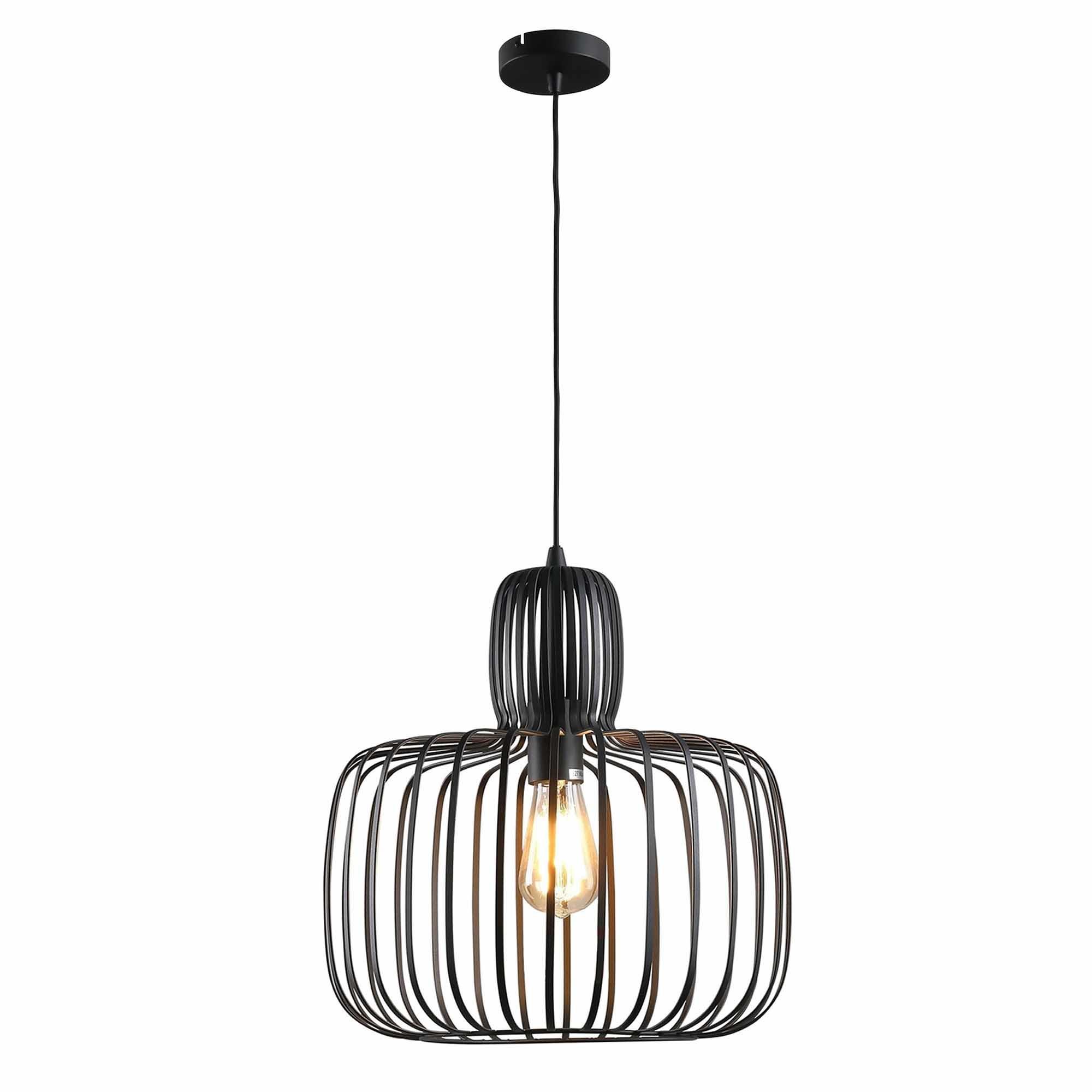 Freelight Hanglamp Costola Ø 55 cm zwart
