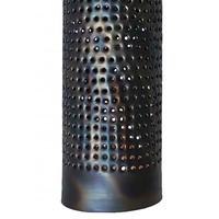 Hanglamp Forato 1 lichts Ø 12 cm bruin zwart