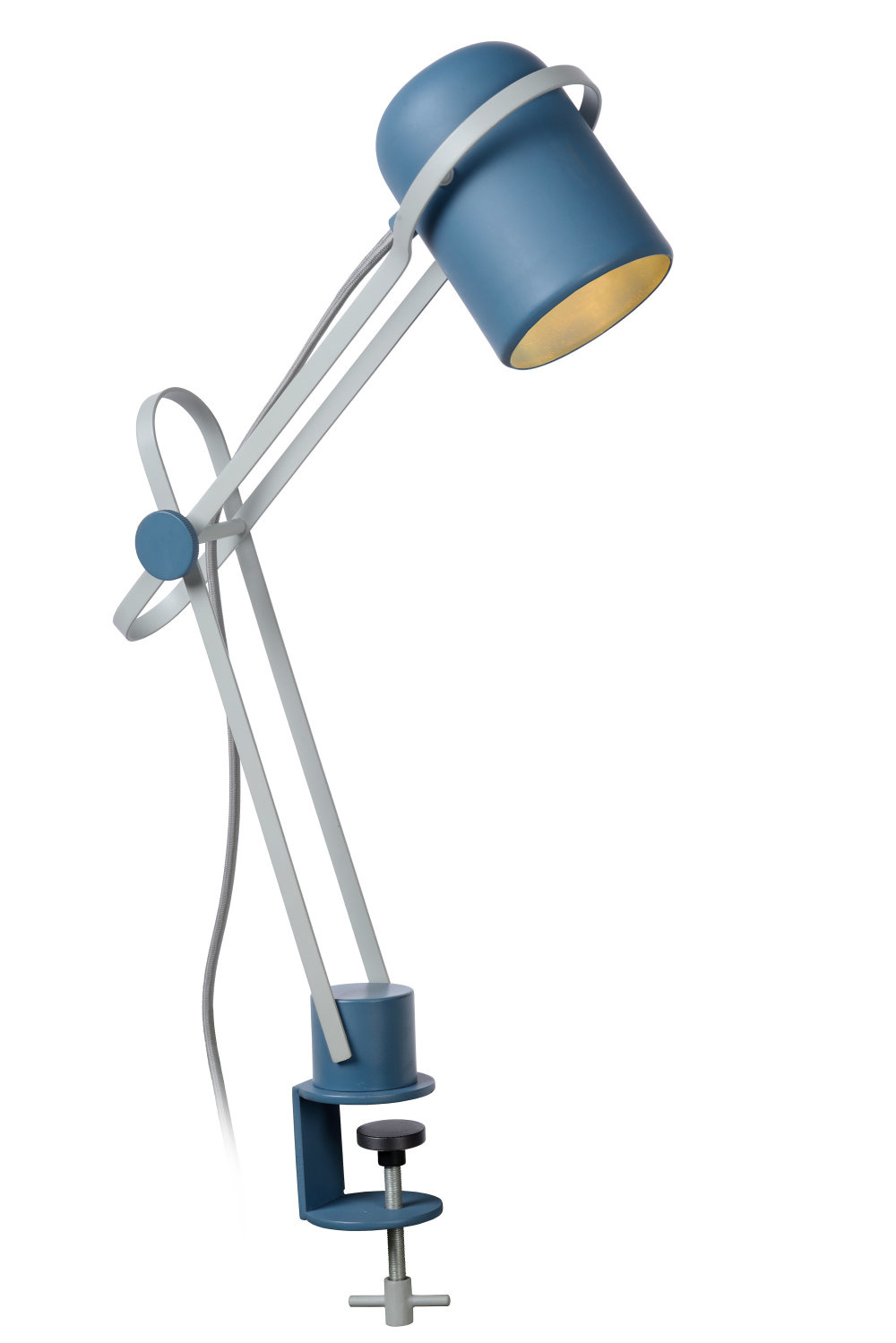 Lucide BASTIN Klemlamp Kinder-Blauw-1xE14-25W-Staal
