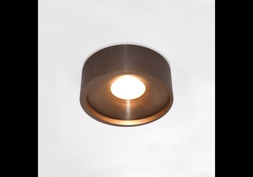 Artdelight Plafondlamp Orlando  Ø 14 cm mat brons