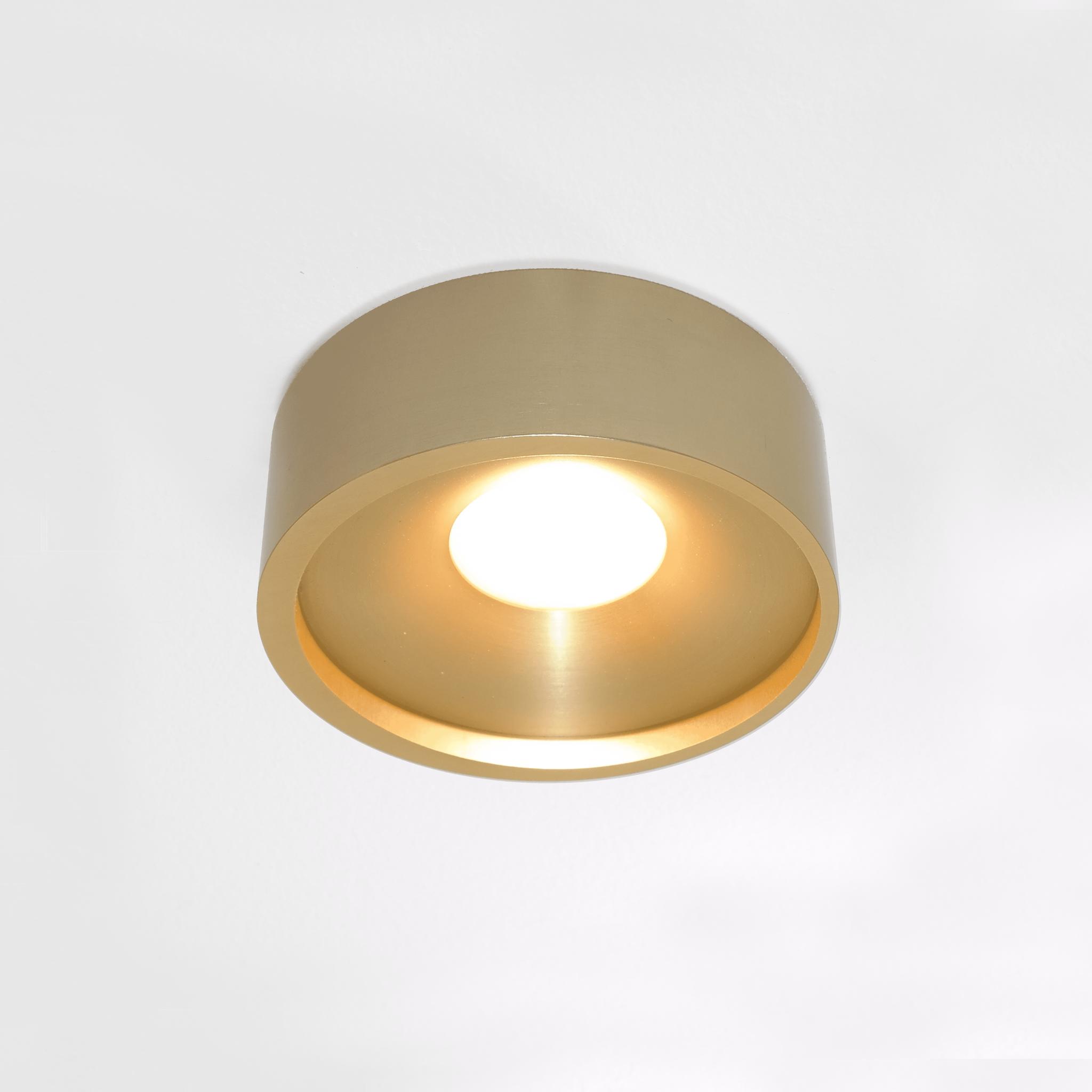 Artdelight Plafondlamp Orlando Ø 14 cm mat mat goud