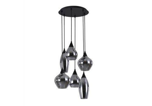 Highlight Hanglamp Cambio 6 lichts Ø 46 cm zwart