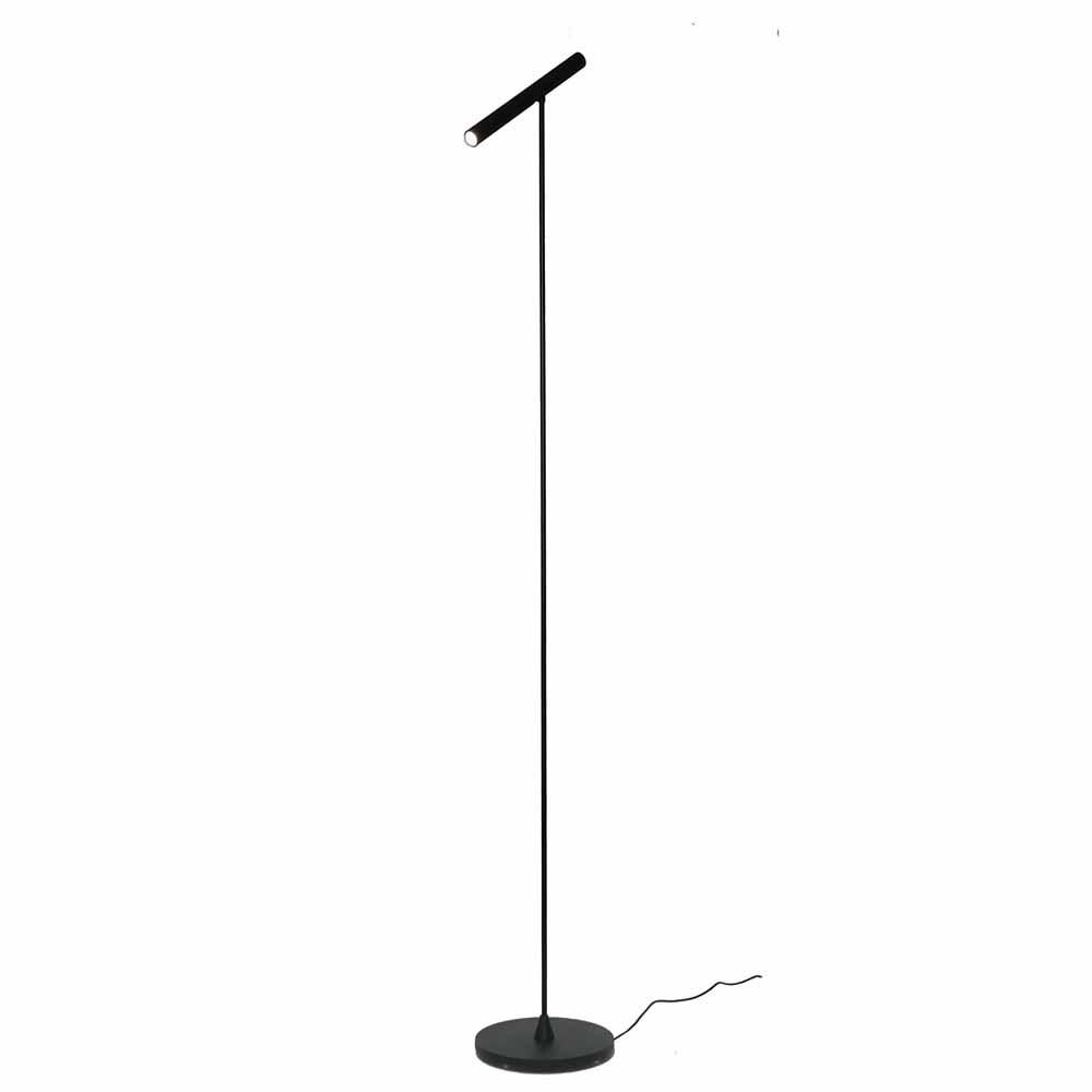 Artdelight Vloerlamp Harper H 140 cm sensor dimmer zwart