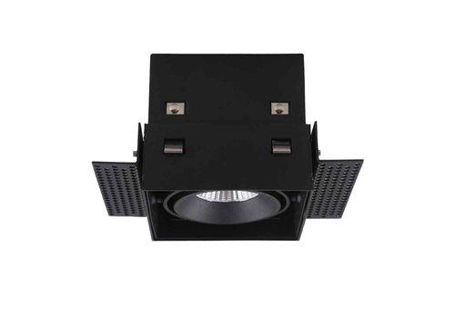 Artdelight Inbouwspot Trofa 1 lichts GU10 Trimless zwart