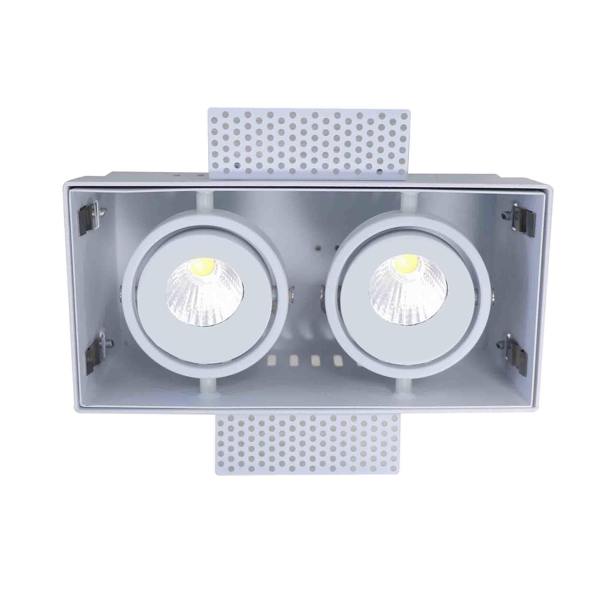 Artdelight Inbouwspot Trofa 2 lichts GU10 Trimless wit