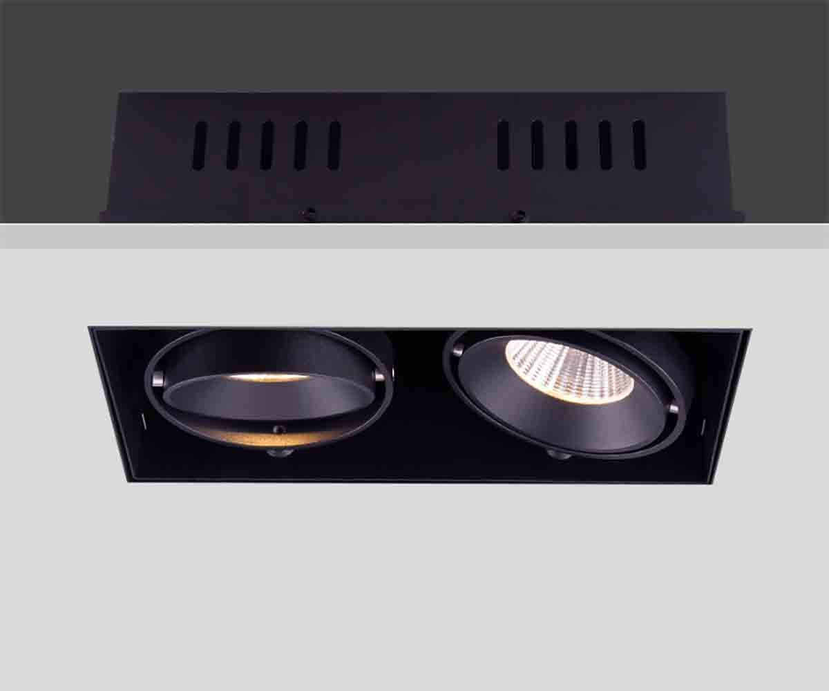 Artdelight Inbouwspot Trofa 2 lichts GU10 Trimless zwart