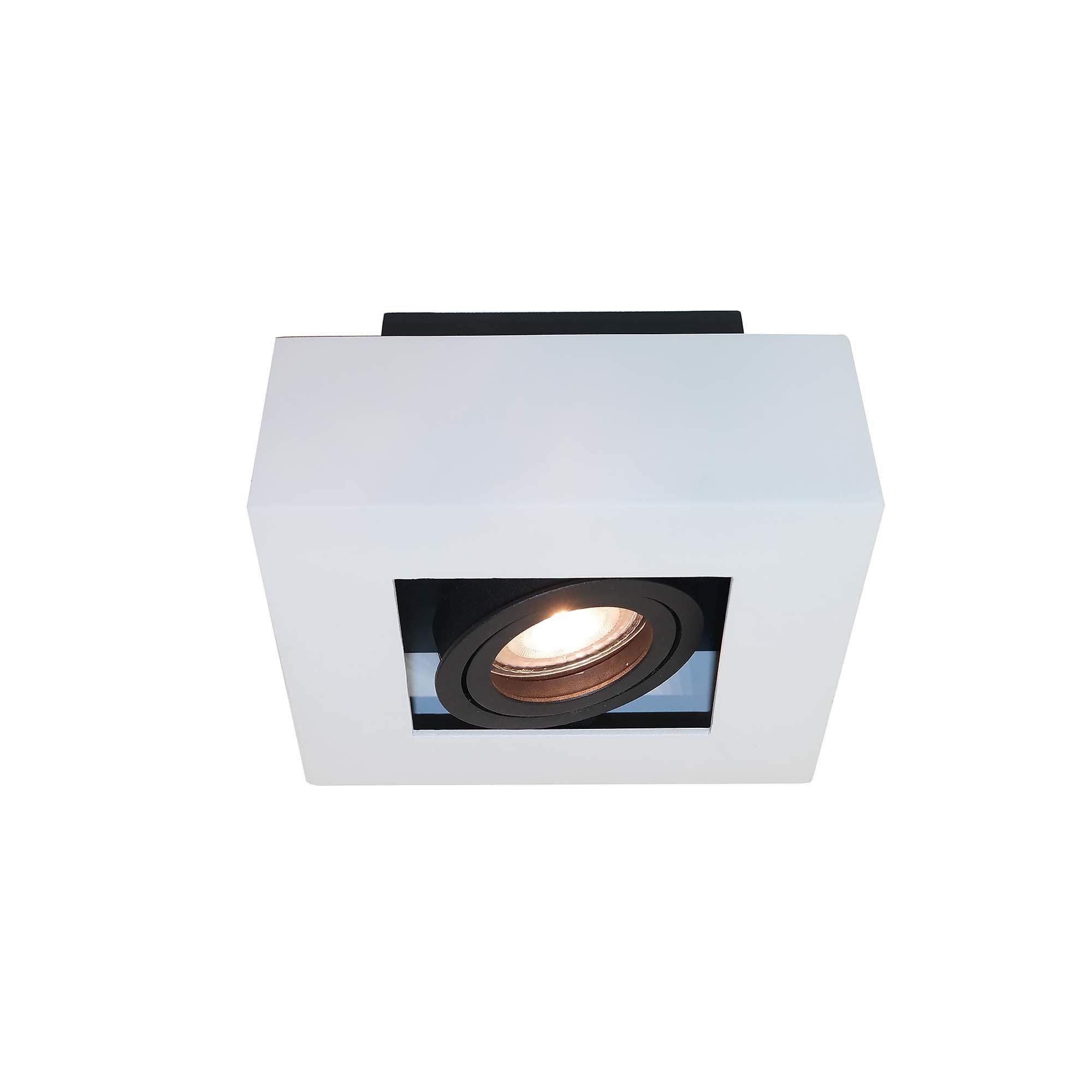Artdelight Spot Bosco 1 lichts 14 x 14 cm wit-zwart