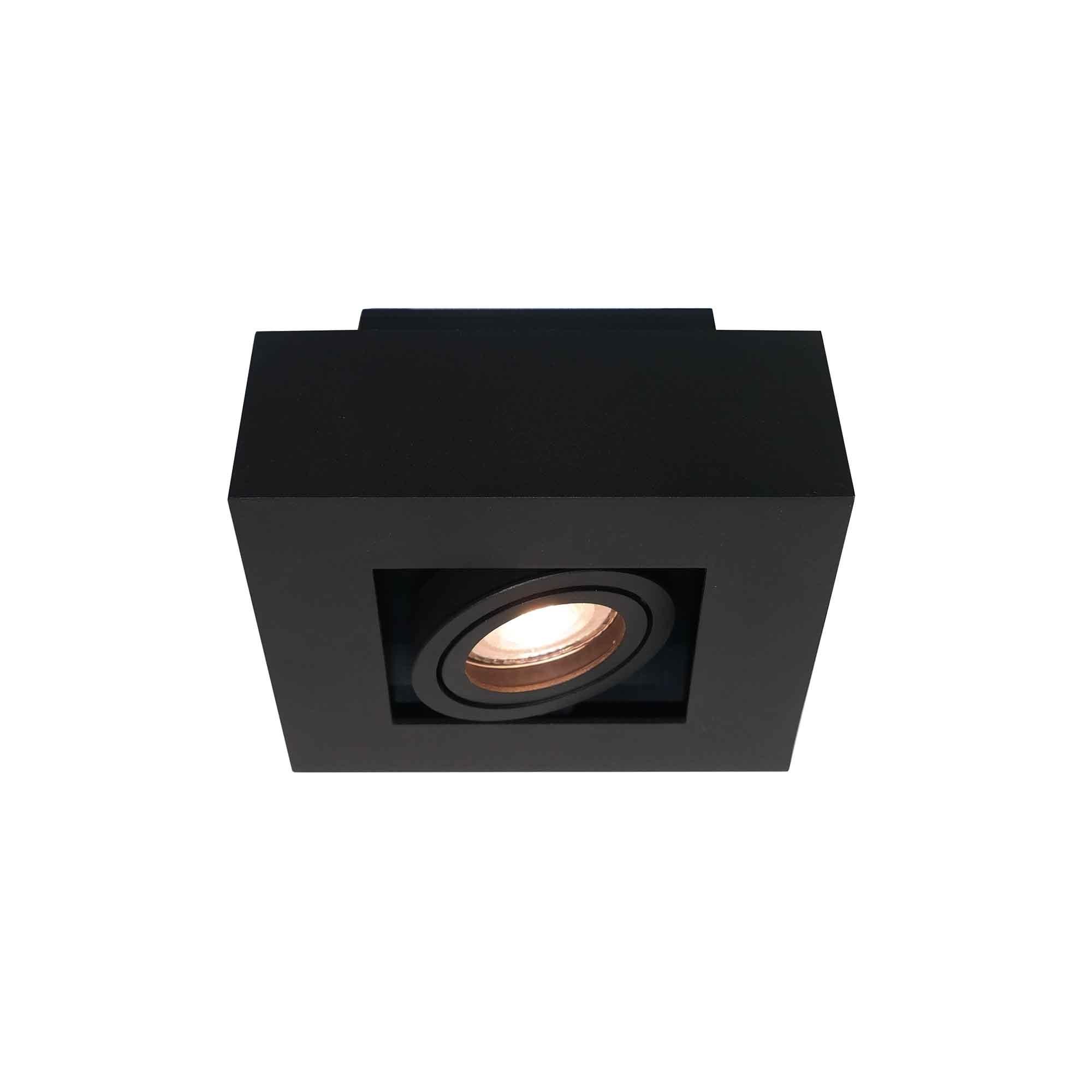 Artdelight Spot Bosco 1 lichts 14 x 14 cm zwart