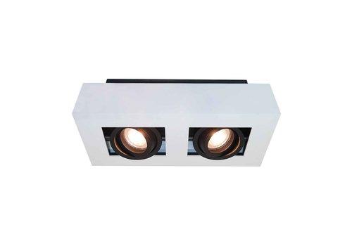 Artdelight Spot Bosco 2 lichts L 25 cm B 14 cm wit-zwart