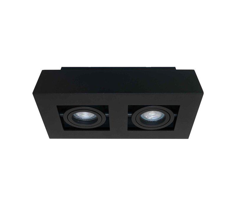 Spot Bosco 2 lichts L 25 cm B 14 cm zwart