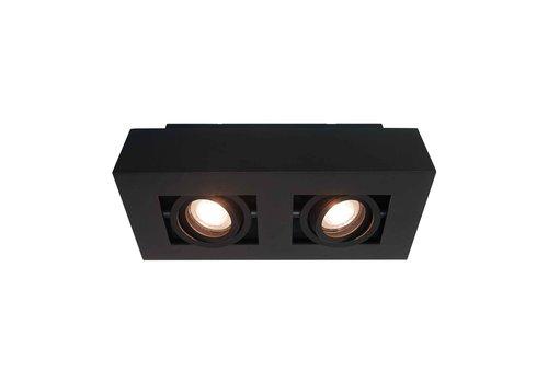 Artdelight Spot Bosco 2 lichts L 25 cm B 14 cm zwart