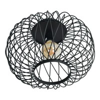 Plafondlamp Twist Large Ø 37 cm zwart