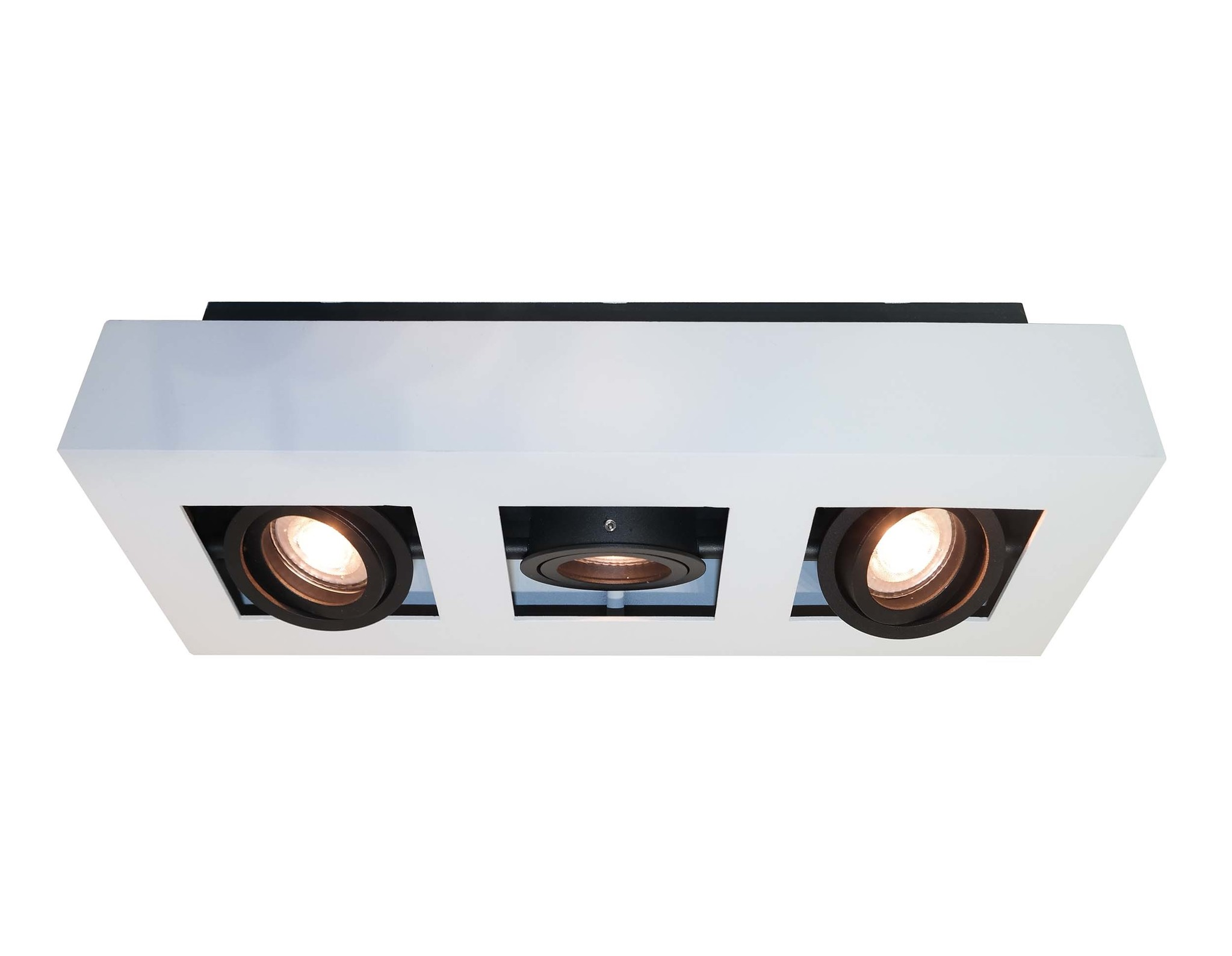 Artdelight Spot Bosco 3 lichts L 36 cm B 14 cm wit-zwart